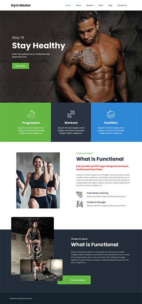 free physical fitness WordPress theme