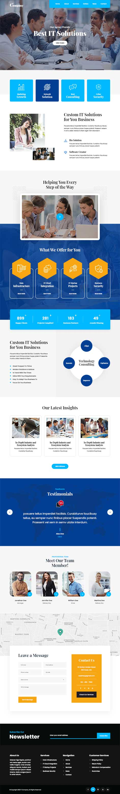 IT Services WordPress theme