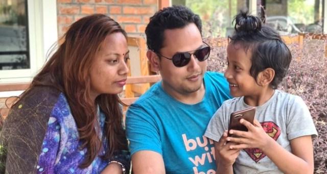 Surendra Shrestha family