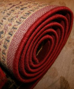 a rolled carpet