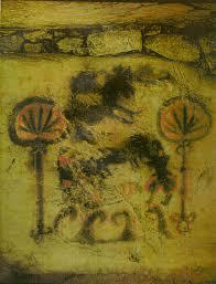 Weed symbol in a cave