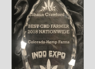 AWARD WINNER - Best CBD Farmer 2018 Nationwide - INDO EXPO - Colorado Hemp Farms
