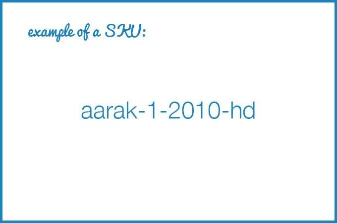 """SKU number example that says """"aarak-1-2010-hd"""""""
