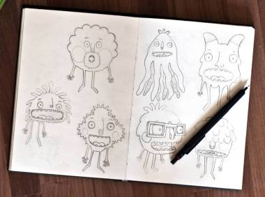 Pages from Andy Martins Sketchbook