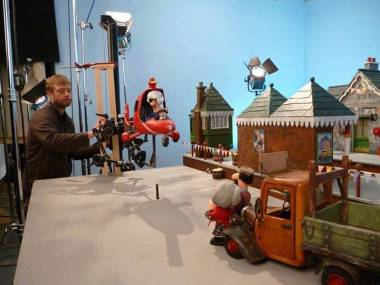 Photo: Bob Skrzynski. Still from 'Postman Pat (Cosgrove Hall Films). Animation is an illusion, after all without the animator nothing on the set would come to life. A skillful animator will give a character like Postman Pat as much personality as they would his helicopter or van. After all they need to be moved, and given life...