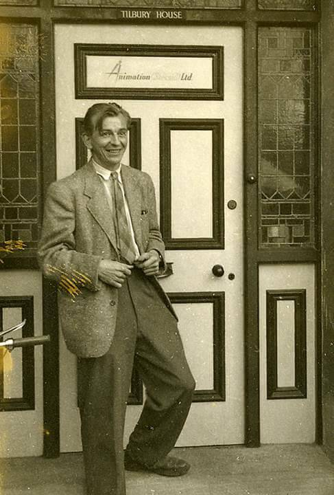 Harold Whitaker at Tilbury House, Stroud, c1952 home of Animation (Stroud) Ltd., a subsidiary of Halas and Batchelor