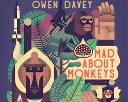 """Owen Davey's """"Mad About Monkeys"""" – Book Review & Interview"""