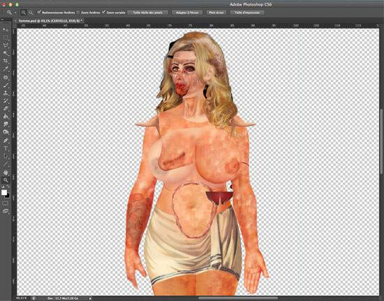 Assets for Supervenus in Photoshop (click to see full list of layers)