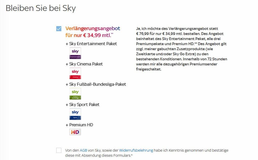 Sky Vertragsverlängerung: Angebote und Vorgehen für Kunden