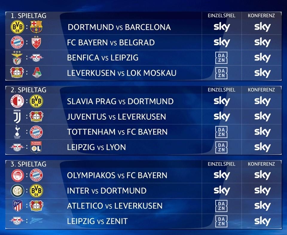 Champions League Nächste Spiele