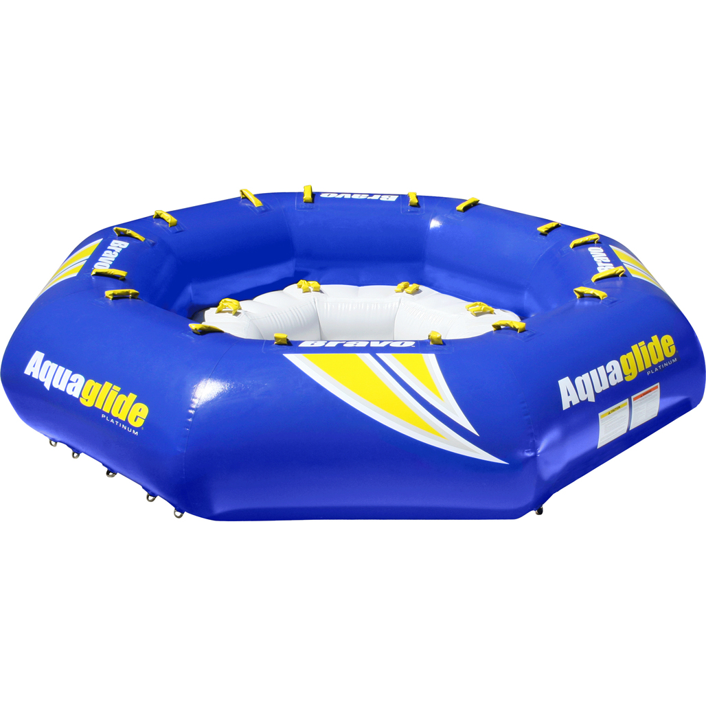 Aquaglide Bravo Inflatable 8 Man Commercial Towable Lounger Towing Harness