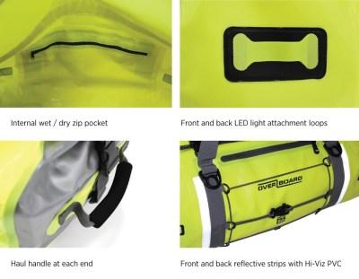 OverBoard 60L Pro-Vis Waterproof Duffel Bag