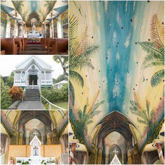 painted church big island wedding venue