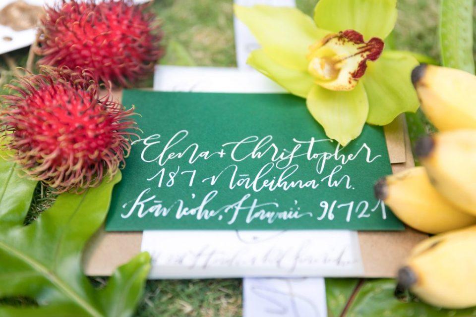 Hawaii wedding invites