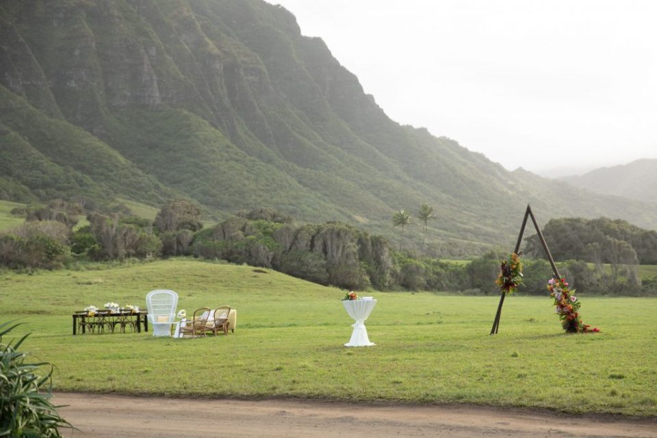 rental options at Kualoa lower camp venue