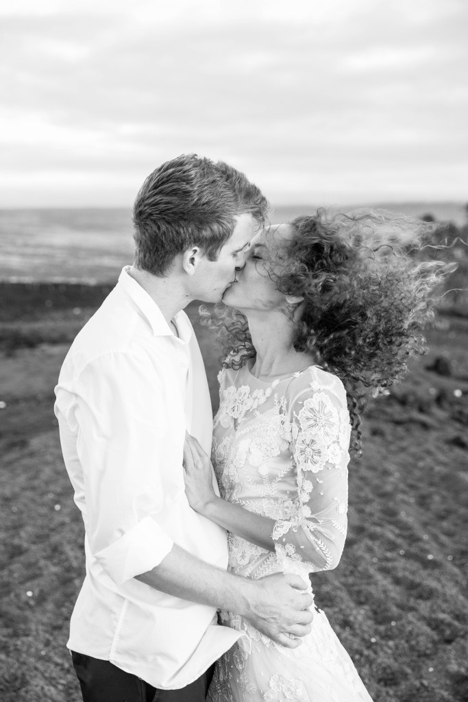 bride and groom kiss Pinterest planning
