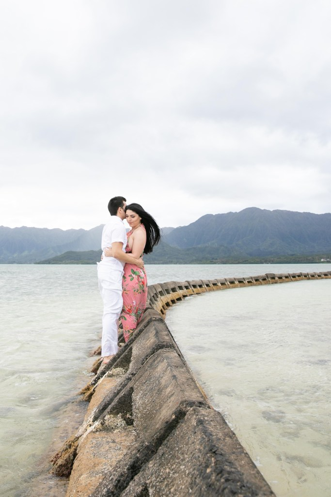 Kualoa engagement photo