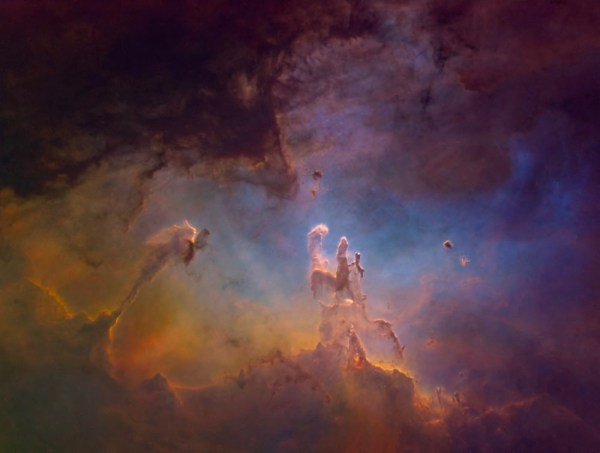 A Starless Eagle Nebula in Hubble Palette Sky Telescope