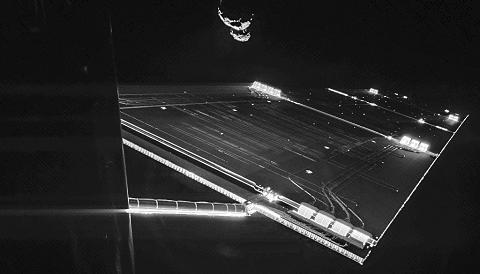 Rosetta Selfie with Comet 67P