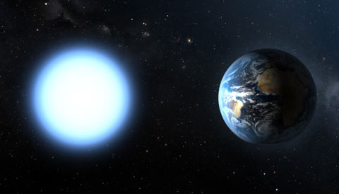 White Dwarf Stars with Hiccups Sky Telescope