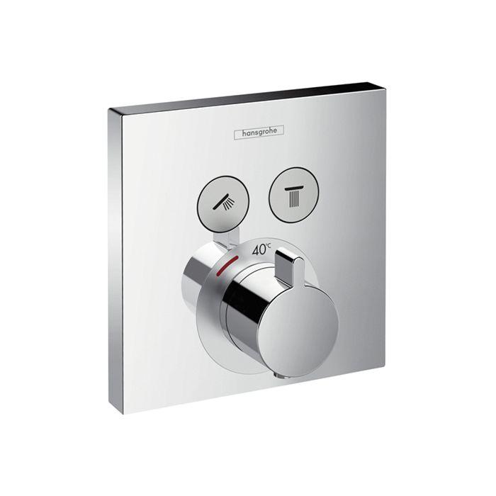 hansgrohe showerselect 15763000 set de finition pour mitigeur thermostatique 2 sorties