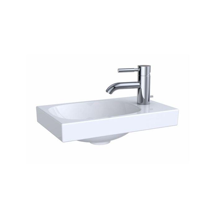 geberit acanto lave mains 500635012 blanc sans trop plein 40 x 25 cm asymetrique