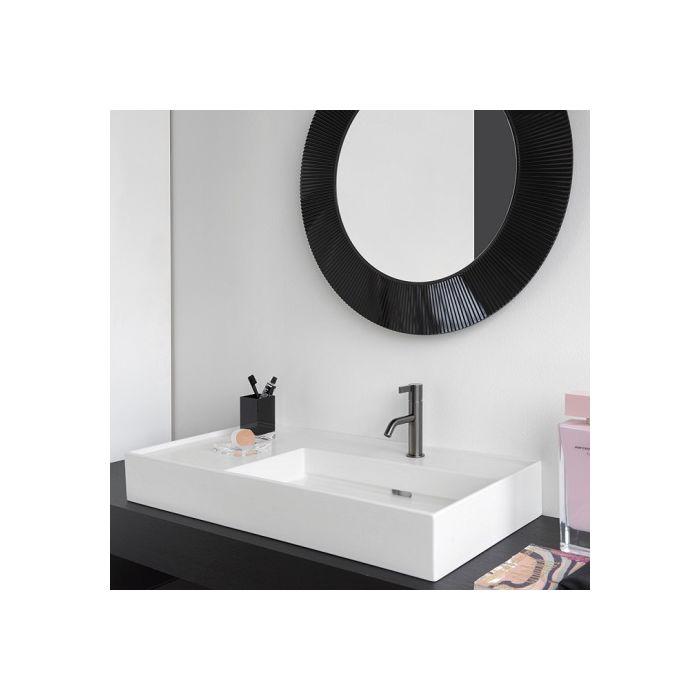 laufen kartell washbasin 8103344001111 60x46cm white lcc shelf on the right 2000 tap hole sapphire ceramic