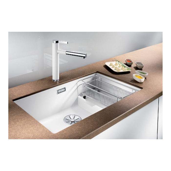 blanco subline 700 u level sink 523455 73x46cm puradur pearl gray for undercounter