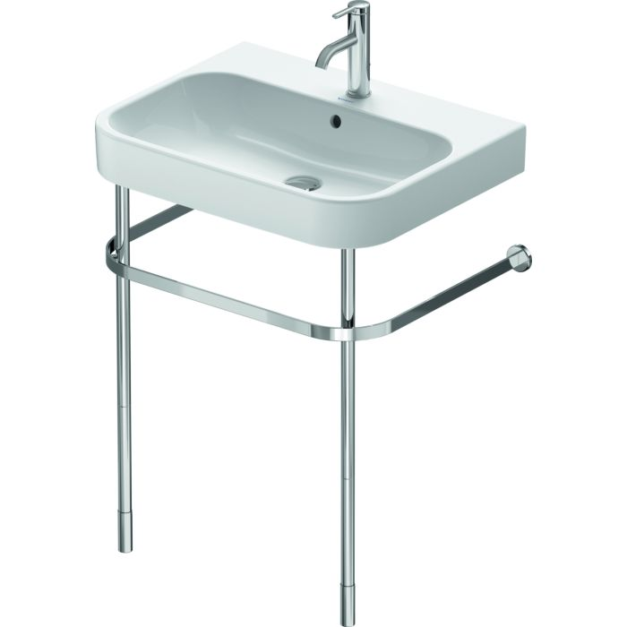 duravit happy d 2 metal console 0030781000 for washbasin height adjustable 5 cm chrome