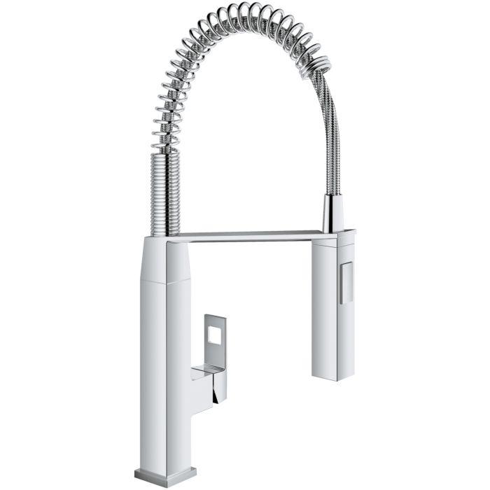 grohe eurocube kitchen mixer 31395000 chrome c spout with professional shower
