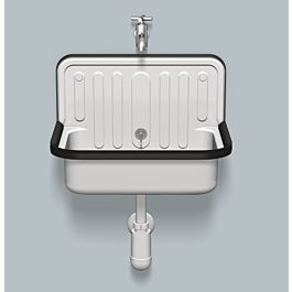 alape bucket sink ag stahlform510u 1200000000 51 x 36 cm white with overflow no tap hole