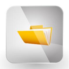 Artwork Retrieval Folder Icon - SkyBlue DesignWorks
