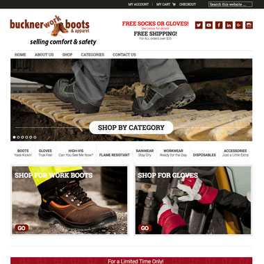 Buckner Work Boots and Apparel