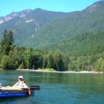 kayaking the south fork Skykomish River
