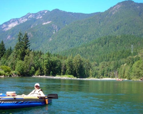 kayaking the south fork Skykomish River