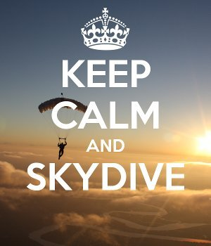 Keep Calm And Skydive Robertson