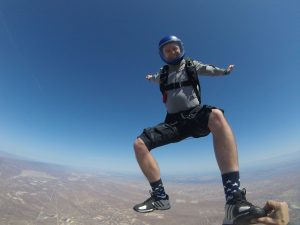 Skydiving over California