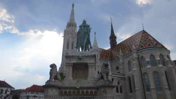 St Stephen's Statue and Matthias Church