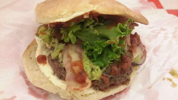 Bacon and Avocado Moaburger
