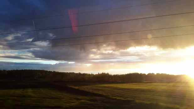 Sunset from Bus