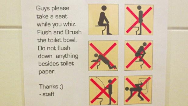 Toilets Around the World: Bathroom Sign