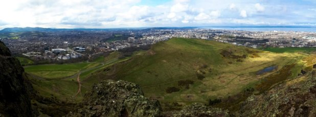 Panoramic View of Arthur's Seat