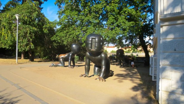 David Cerny Baby Statues