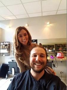 Lucy Cutting Hair at Medusa Salon
