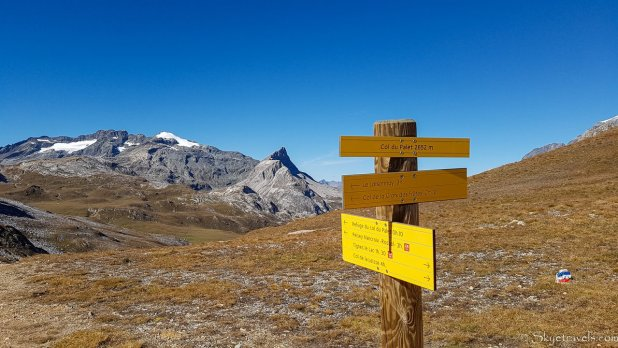 GR 5 Alpine Trail Signs in Tignes