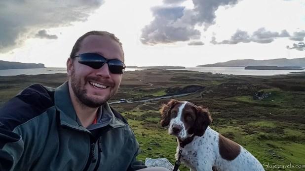 Selfie with Dog on the Isle of Skye