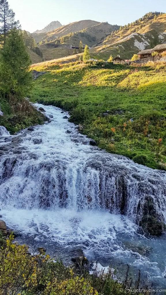 Waterfall Near Tignes