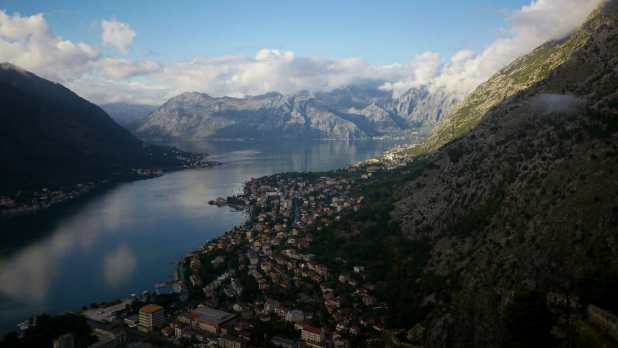 Kotor Bay from the Fortress