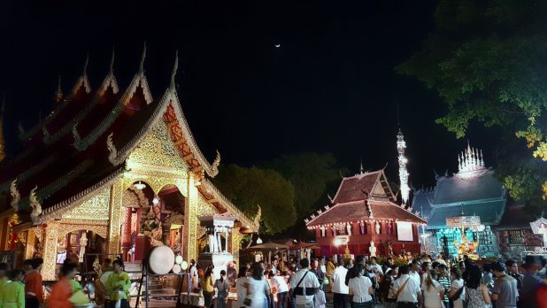 Wat Srisuphan Crowd