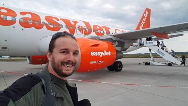 Selfie Boarding Easijet at Inverness